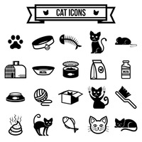 Collection of cat icons