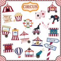 Collection of circus icons
