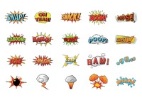 Collection of comic wordings