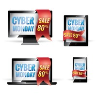 Collection of cyber monday sales