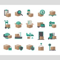 Collection of delivery service icons