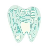 Collection of dental icon