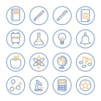 Collection of education icons