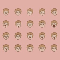 Collection of facial expressions