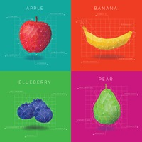 Collection of fruit infographic