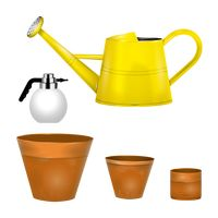 Collection of garden equipments