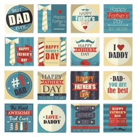 Collection of happy father's day cards