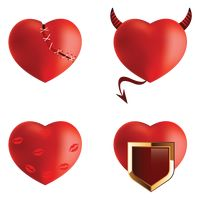 Collection of heart concepts