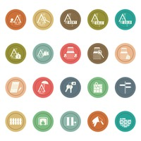 Collection of house related icons