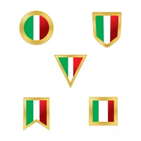 Collection of italian flag icons