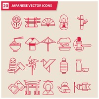 Collection of japanese icons
