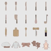 Collection of kitchen related objects
