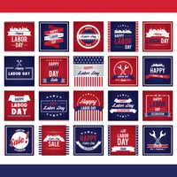Collection of labor day designs