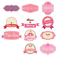 Collection of love labels
