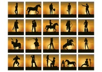 Collection of man ans woman silhouette