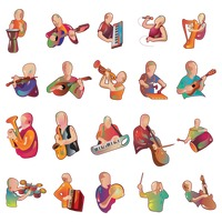 Collection of man playing instruments
