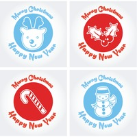 Collection of merry christmas and new year cards