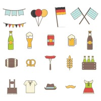 Collection of octoberfest icons