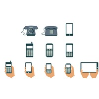 Collection of phone icon
