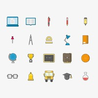Collection of school icons