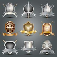 Collection of shield emblems