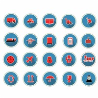Collection of shipping and logistic icons