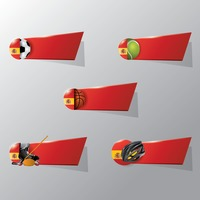 Collection of spain sports banners
