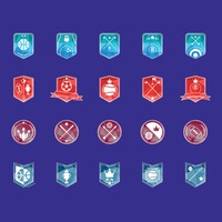 Collection of sports emblem