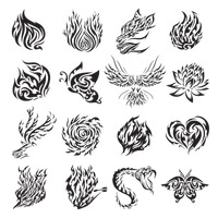 Collection of tattoo design