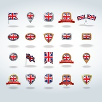 Collection of uk flag icons