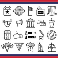 Collection of usa elections icons