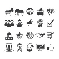 Collection of usa icons