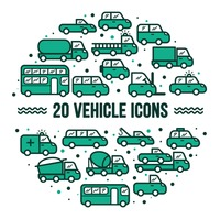 Collection of vehicle icons