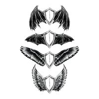Collection of winged emblems