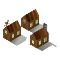 Collection of wooden houses