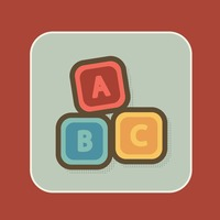 Colourful cubes with letters abc