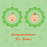 Congratulations it's twins card