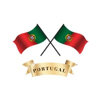 Crossed portugal flags