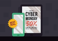 Cyber monday big sale wallpaper