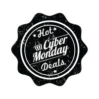 Cyber monday hot deal label
