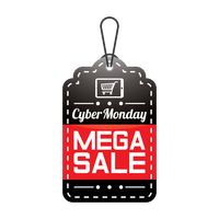 Cyber monday mega sale tag