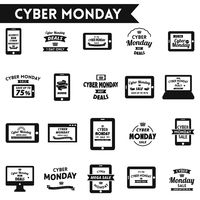 Cyber monday sale designs set