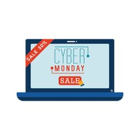 Cyber monday sale on laptop
