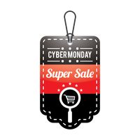 Cyber monday super sale tag