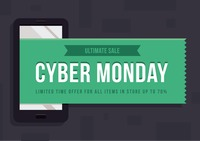 Cyber monday ultimate sale wallpaper