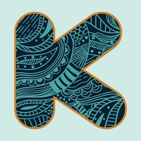 Decorative alphabet k