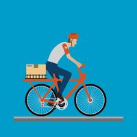 Delivery man on a bicycle
