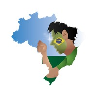 Double exposure of brazil map with supporter