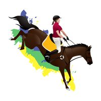 Equestrian eventing rider