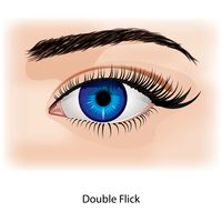 Eye with double flick